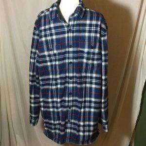 LL Bean Tall fleece Lined Flannel Shirt